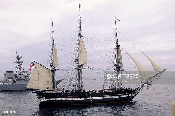uss constitution, old ironsides, boston, massachusetts. - old frigate stock photos and pictures