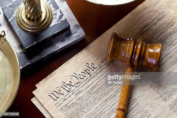 us constitution - bill of rights stock photos and pictures