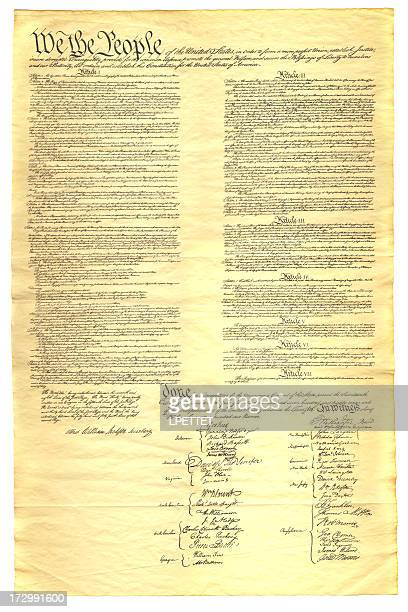 xxl us constitution - bill of rights stock photos and pictures