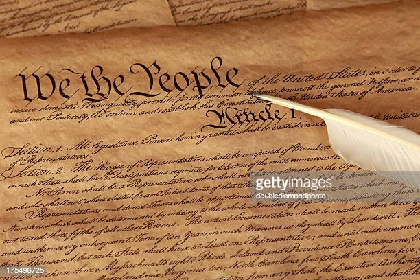 us constitution - constitution stock pictures, royalty-free photos & images