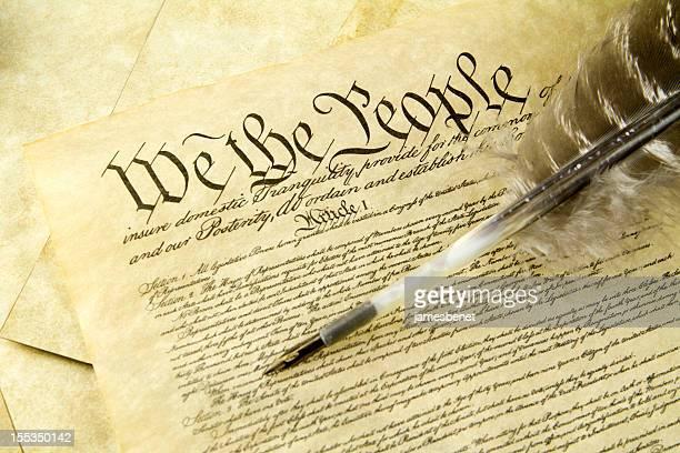 Constitution américaine avec Plume d'oie