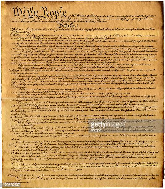 constitution xxxl - bill of rights stock photos and pictures