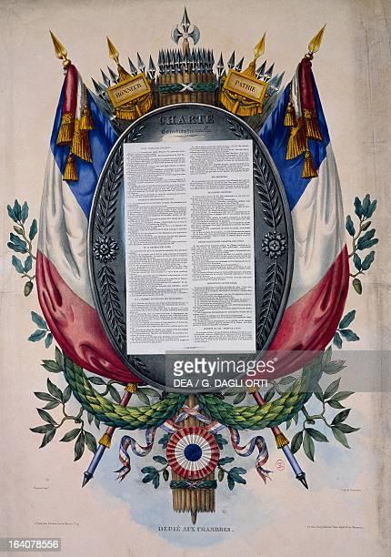 Constitutional paper from July 1830 July Revolution France 19th century Paris Hôtel Carnavalet