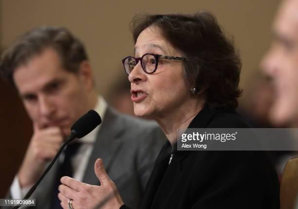 Constitutional scholars Pamela Karlan of Stanford University and Noah Feldman of Harvard University testify before the House Judiciary Committee in...