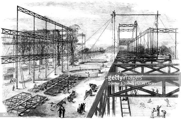 Constructing the Crystal Palace, Hyde Park, London, 1850. Pictures ...
