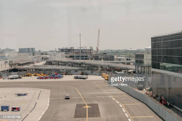 Construction and closed roads as seen from LaGuardia Airport's newly-remodeled Terminal B on June 10, 2020 in New York City. Citing LaGuardia...