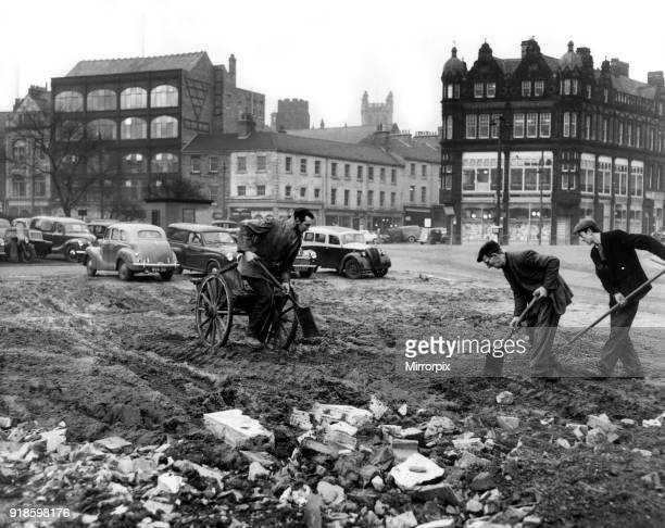 Construction at site of new Newcastle Civic Centre located in the Haymarket area of Newcastle upon Tyne England 14th December 1959 Corporation...