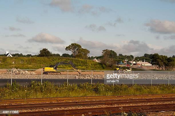 construcción en sydney, estanques de alquitrán sitio - sydney fotografías e imágenes de stock