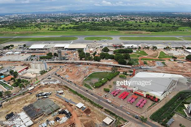 Construction at the airport and surrounding areas on December 13 2013 in Cuiaba Brazil
