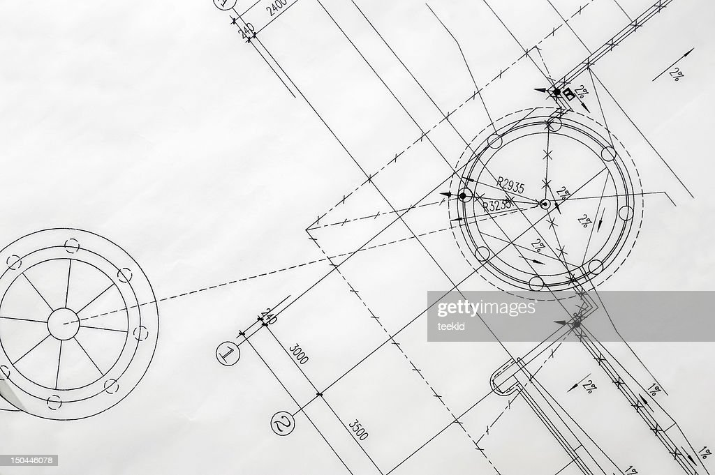Construction Blueprint : Stock Photo