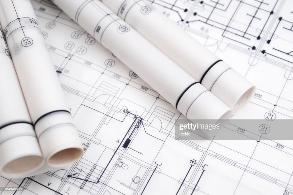 Construction blueprintarchitecture industry paperwork stock photo construction blueprint architecture industry paperwork stock photo malvernweather Gallery