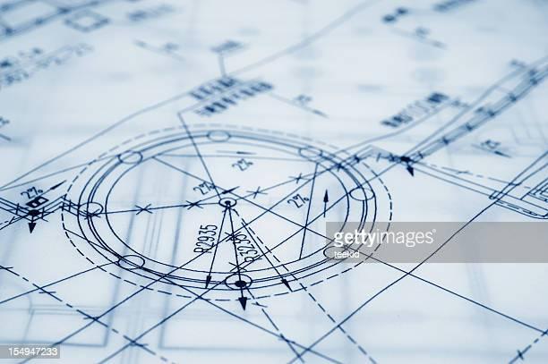 Bau Blaupause-Semi-transparente Pergament Papier