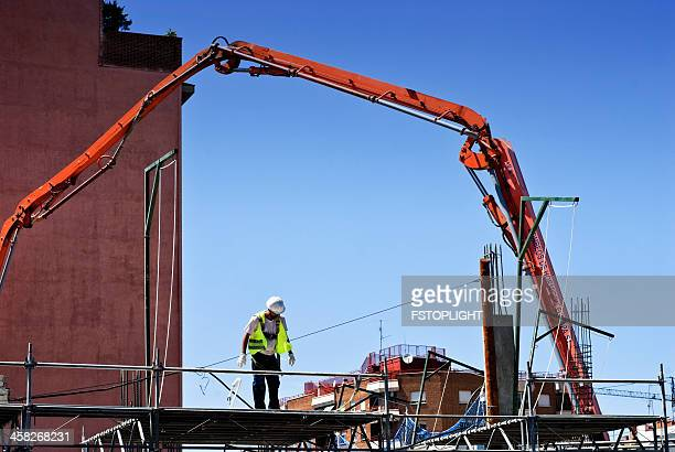construction building in madrid city - fstoplight stock photos and pictures