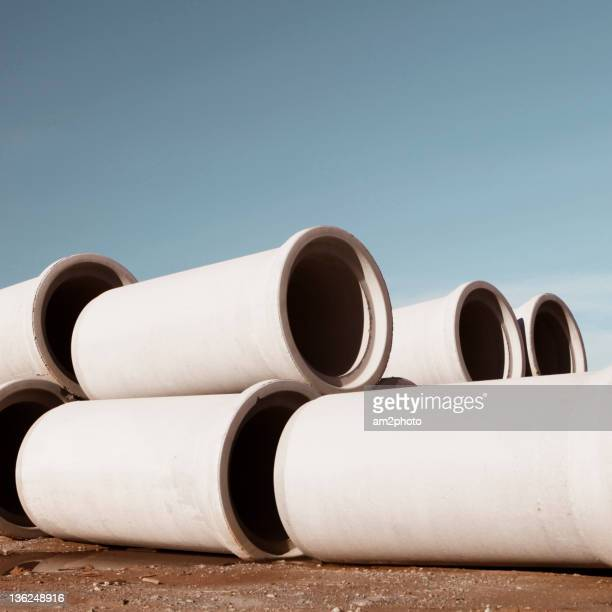 Construction cement pipes