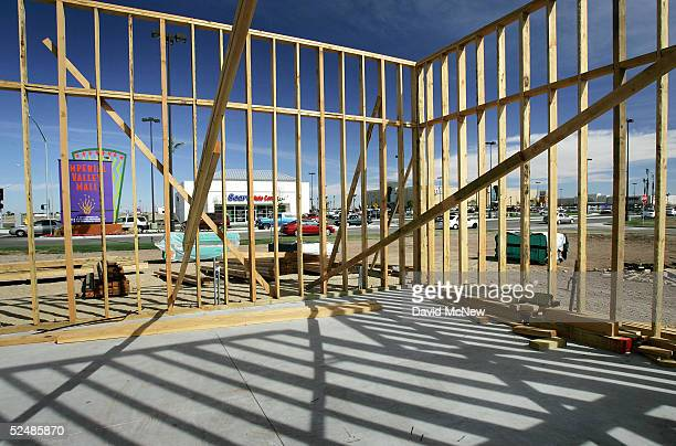 Construction continues around the new Imperial Valley Mall, a major project in the city of El Centro on March 27, 2005 near Calexico, California. As...