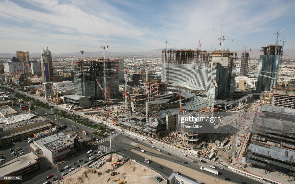 Construction continues at CityCenter, a 76-acre, USD eight billion mixed-use urban development center, March 20, 2008 in Las Vegas, Nevada. The joint project between MGM Mirage and Dubai World is the largest private development in the United States.