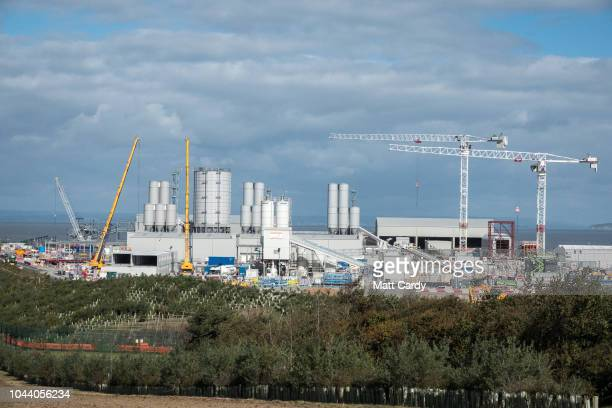 Construction continues at pace at the construction site of the Hinkley Point C nuclear power station being built near Bridgwater on October 1 2018 in...