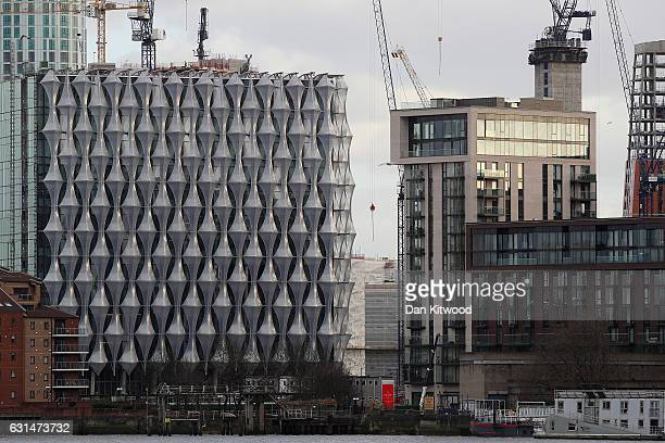 Construction continues at the new US Embassy and diplomatic quarter on January 11 2017 in London England