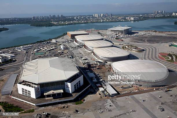 Construction continues at the Olympic Park for the Rio 2016 Olympic Games in the Barra da Tijuca neighborhood with six months to go to the Rio 2016...