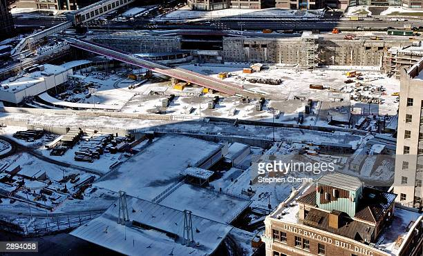 Construction continues at the site of the September 11 2001 terrorist attacks January 23 2004 in New York City Three names have been removed from the...