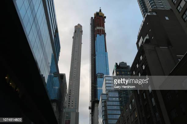 Construction continues on 220 Central Park South and Central Park Tower a 1550 foot tall tower that will become when completed the tallest...