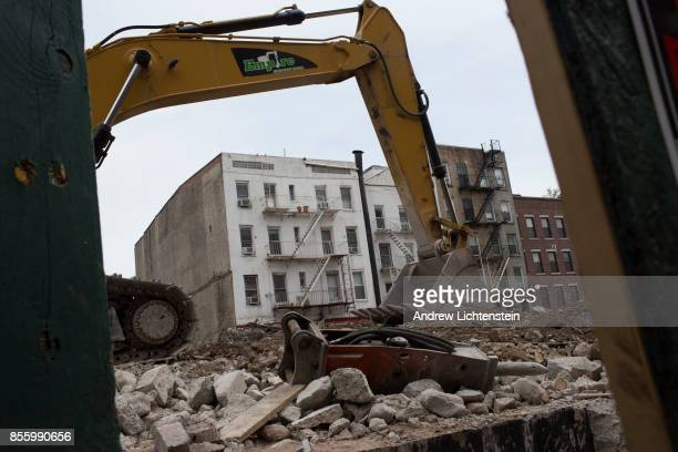 Construction continues on demolishing Long Island College Hospital and replacing it with luxury condos on May 11 2017 in downtown Brooklyn New York