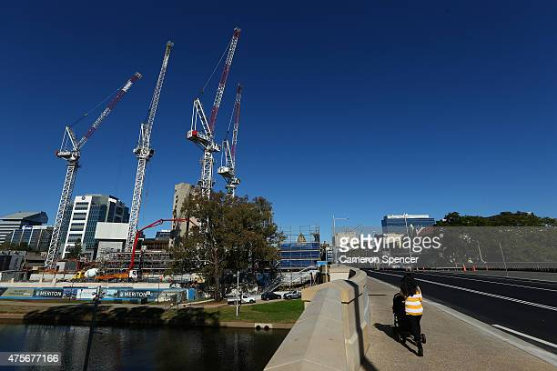 Construction continues on Meriton's 'Altitude Parramatta' apartments in Parramatta on June 3 2015 in Sydney Australia Parramatta is about to become...