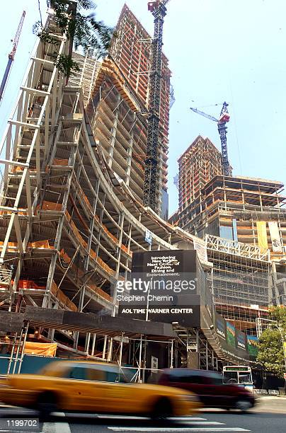 Construction continues on the 2.1 million-square foot AOL Time Warner Center August 2 at New York's Columbus Circle. The U.S. Security and Exchange...