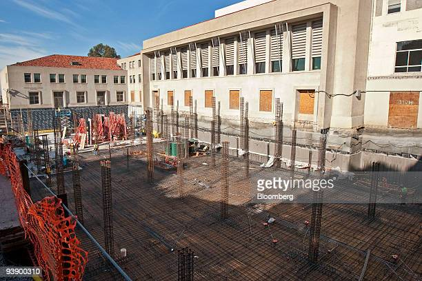 Construction continues on the Boalt Hall south annex at the University of California Berkeley law school in Berkeley California US on Tuesday Dec 1...