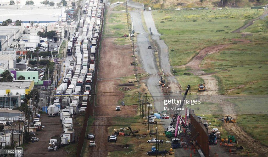 Border Patrol Monitors US-Mexico Border As Surge Of Migrants Strains Resources : News Photo