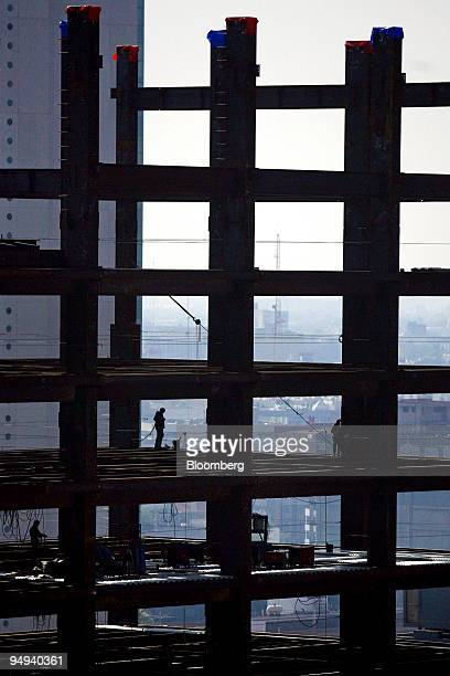 Construction continues on the Hyatt Park hotel along Avenue Reforma in Mexico City Mexico on Friday July 17 2009 Mexico's peso headed for its biggest...