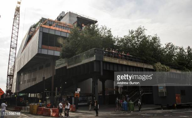 Construction continues on the Whitney Museum of American Art's new building on June 26 2013 in the Meat Packing District neighborhood of New York...