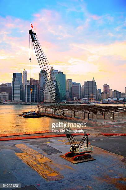 Construction Crane and Downtown New York