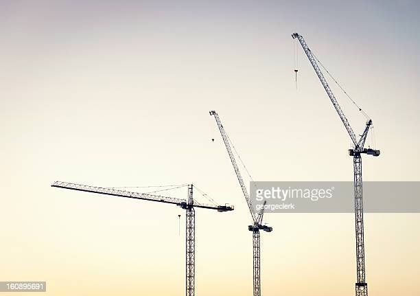Construction Cranes at Dawn