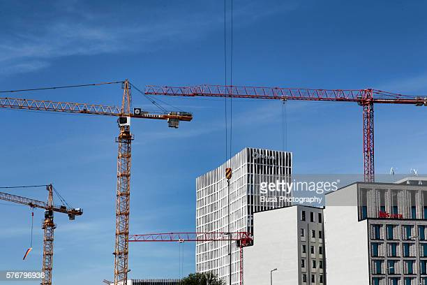 Construction cranes in Berlin, Germany