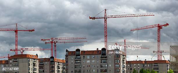 Construction cranes near Potsdamer Platz.