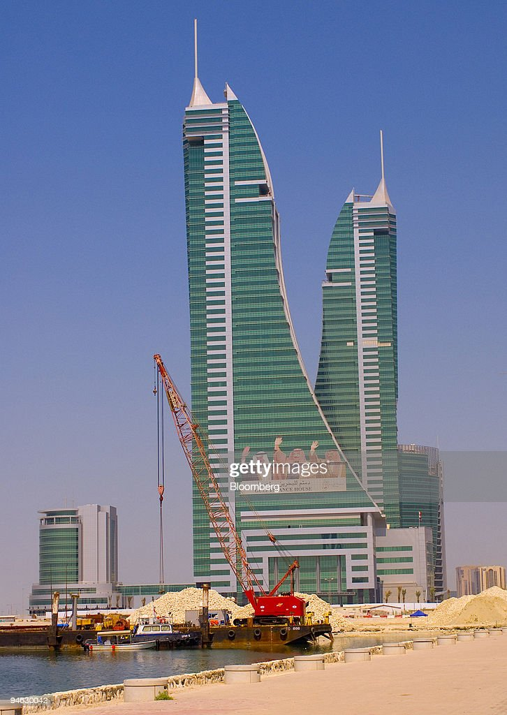 Construction cranes still on site at the recently opened Bahrain