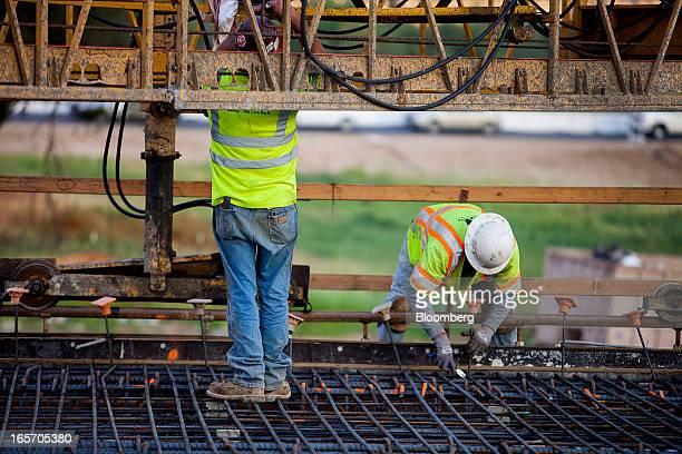 24 Views During Concrete Pour For The Caltrans Bridge