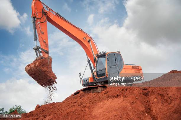 construction equipment in construction new warehouse background - ancient civilisation stock pictures, royalty-free photos & images