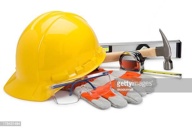 Construction Equipment on White