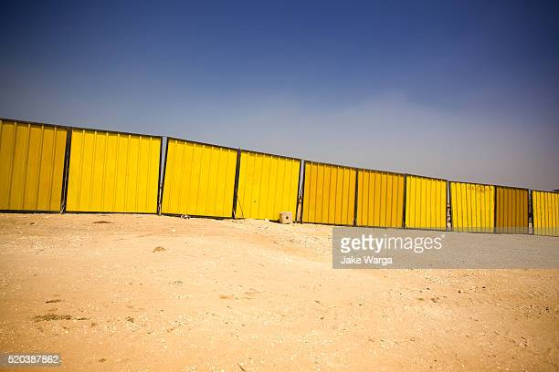 Construction fence, Giza, Egypt