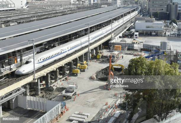 Construction for the maglev train route's Nagaya Station is underway in the city in central Japan as seen in this photo taken on Dec 20 2017 Four...