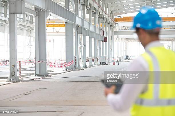 Superviseur de Construction vérification des progrès