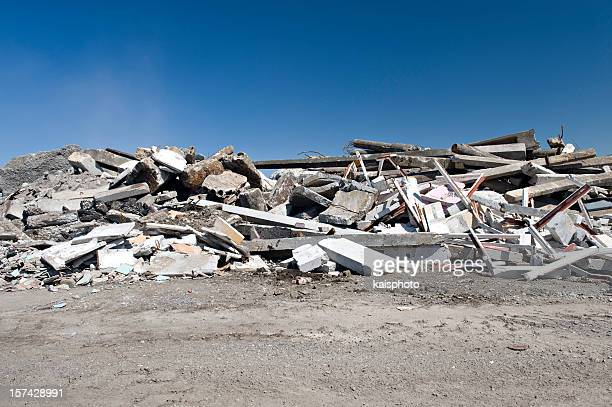 construction garbage site - rubble stock pictures, royalty-free photos & images