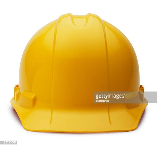 construction helmet on white - work helmet stock pictures, royalty-free photos & images