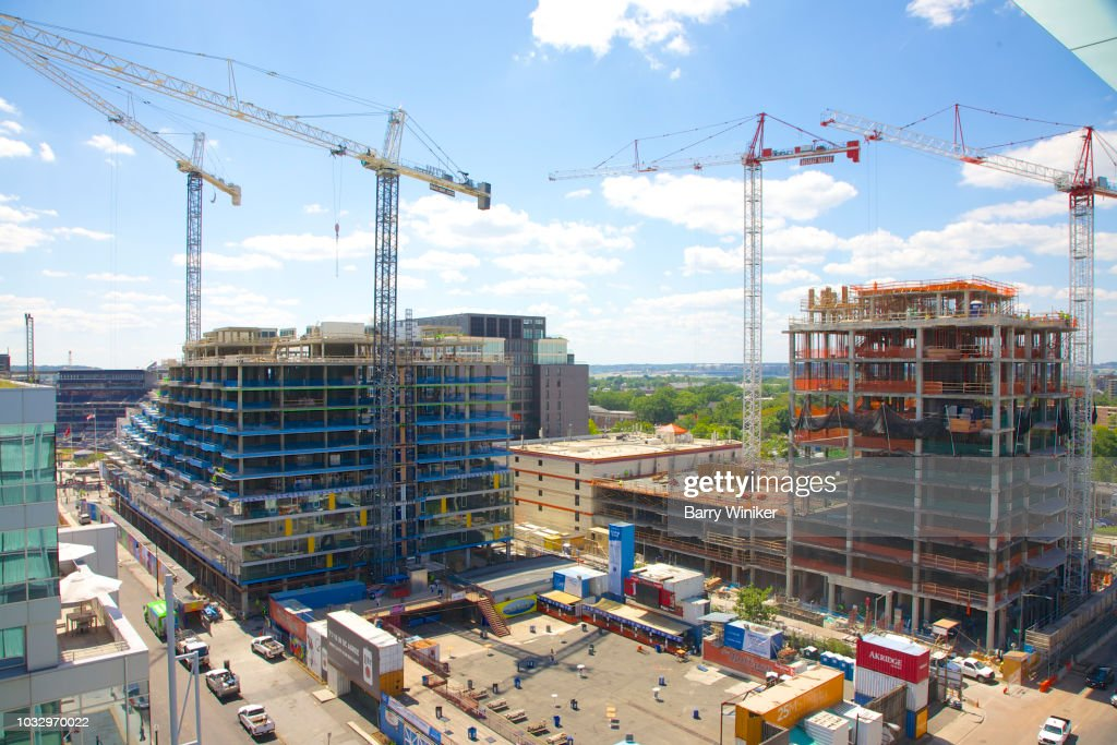 Construction in Capitol Riverfront, Washington, D.C. : Stock Photo