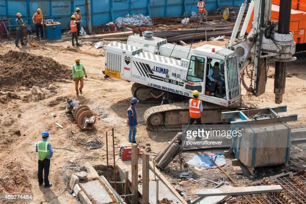 construction in downtown agra, india - editorial stock pictures, royalty-free photos & images