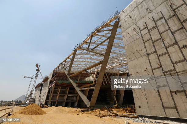 Construction in progress of the Grand Museum of Cairo at 24 May 2017