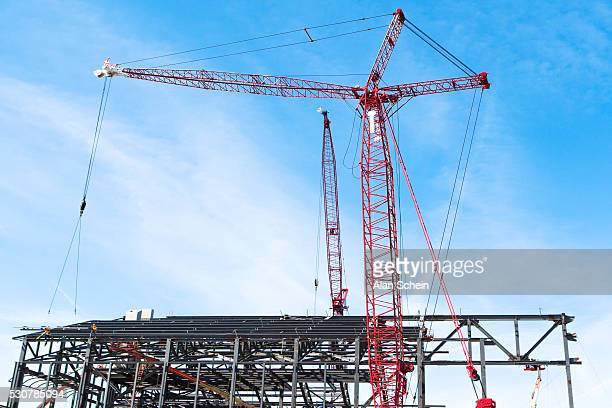construction industry, cranes - crane stock pictures, royalty-free photos & images