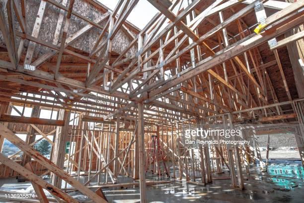 construction interior - advertising column stock-fotos und bilder